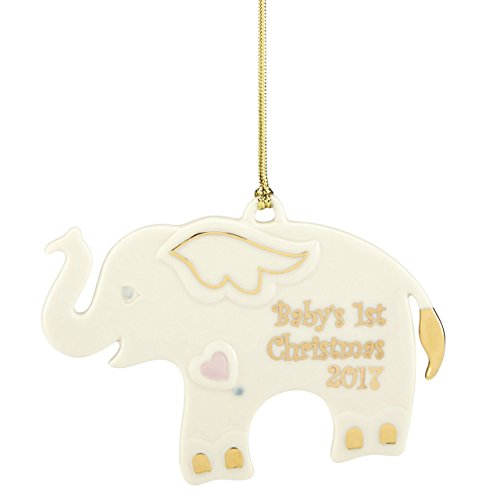 Lenox Annual China Ornaments 2017 Baby's First Christmas Elephant