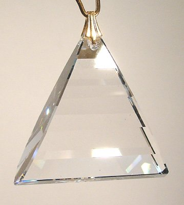 Swarovski 35mm Clear Crystal Pyramid Dangle Prism