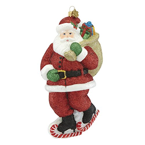 Reed & Barton Skating Santa Figural Ornament
