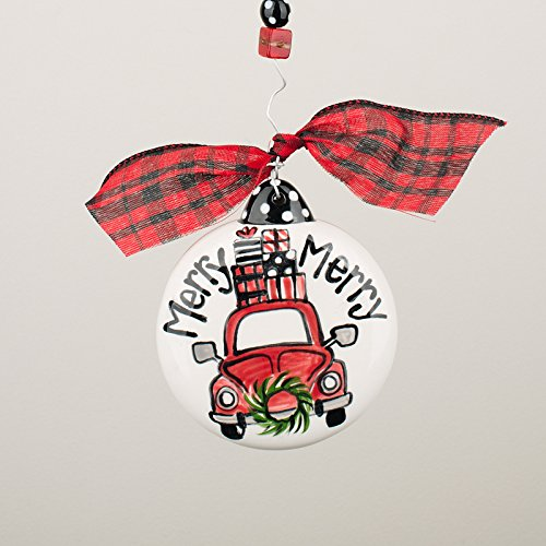 Glory Haus 2990106 Merry Merry Christmas Car Puff Ornament