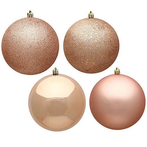 Vickerman N590758 Ball Ornament, 2.75″, Rose Gold