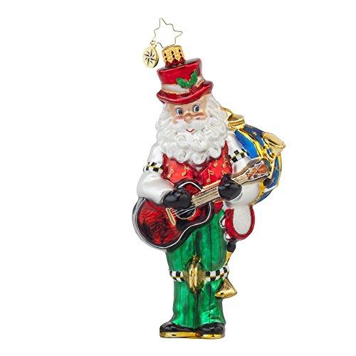 Christopher Radko One Man Band Santa Glass Christmas Ornament – 6.5″h.