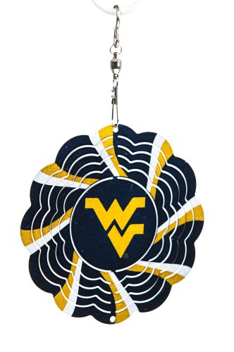 West Virginia University Geo Spinner Christmas Ornament