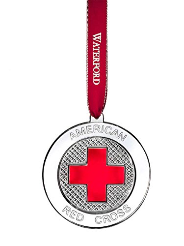 Waterford 2015 Crystal Red Cross Ornament