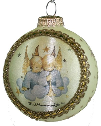 Krebs Glass Ball with Hummel Silk Picture Ornament (H415 Heavenly Duo)