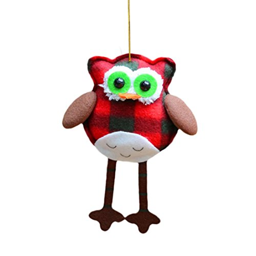 Coerni Premium Christmas Decorative Ornaments Hanging Props Owl Doll (C)