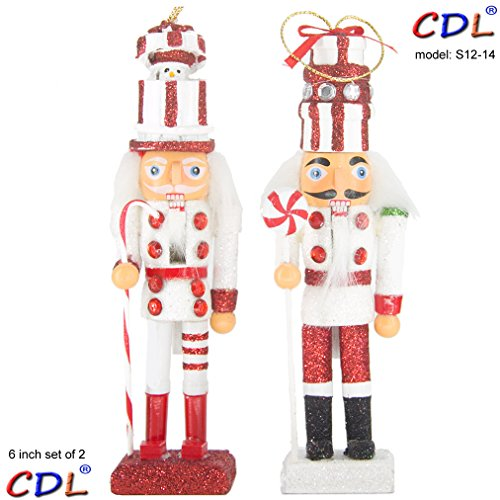 CDL 5-Inch Wooden Nutcracker Ornament sets in various designs and quantity (S12-14)