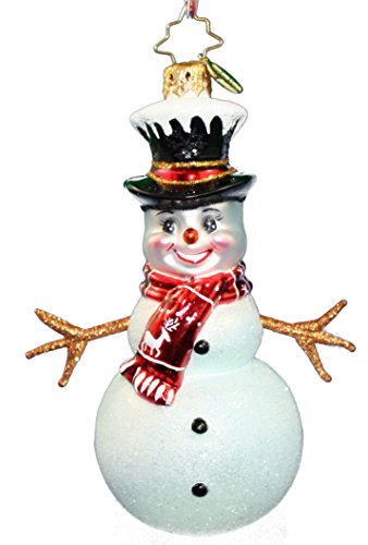 Christopher Radko Twiggy Snowman Seasonal Ornament