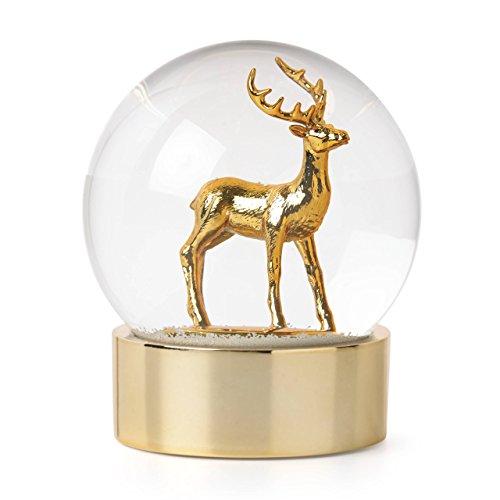 Lenox Golden Holidays Reindeer Golden Snowglobe