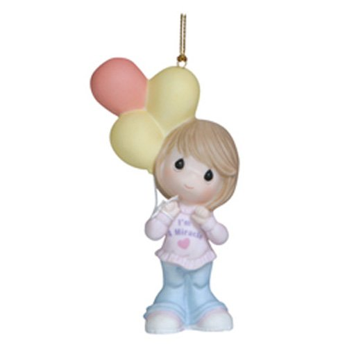 Precious Moments You Are a Miracle Ornament, Girl Figurine