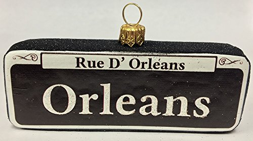 Orleans Street Sign New Orleans Polish Glass Christmas Ornament Rue D Orleans
