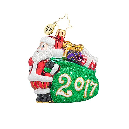 Christopher Radko Jolly Year Dated 2017 Little Gem Christmas Ornament -EXCLUSIVE