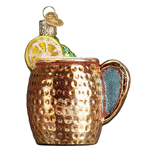 Old World Christmas Moscow Mule Mug, 3″