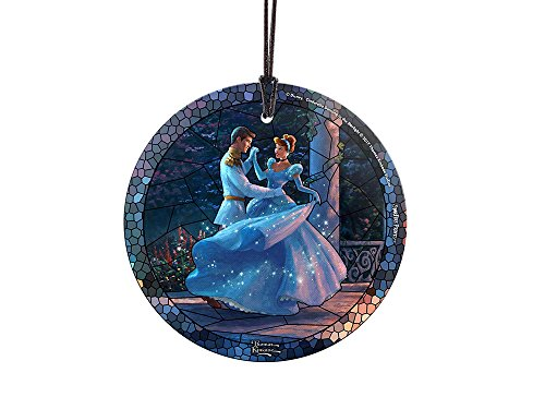Disney Dancing in the Starlight Cinderella StarFire Prints – Stained Glass Effect Ornament – Home and Christmas Tree Decoration