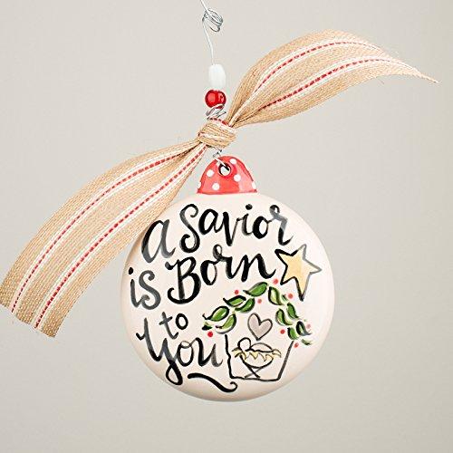 Glory Haus 2990117 A Savior Is Born Puff Ornament