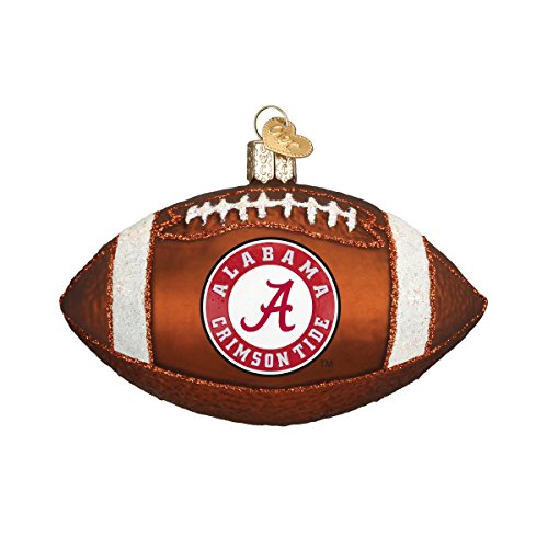 Old World Christmas University of Alabama Football Glass Blown Ornament