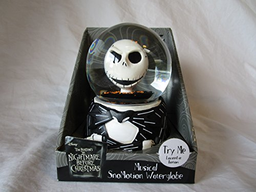 "THE NIGHTMARE BEFORE CHRISTMAS "" JACK SKELLINGTON "" SNOWMOTION / MUSICAL WATER-GLOBE SNOW GLOBE FIGURE"