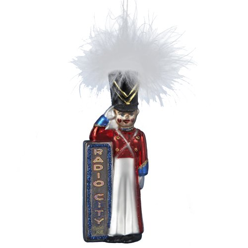Radio City Rockettes Kurt Adler Soldier Glass Ornament, 5-Inch