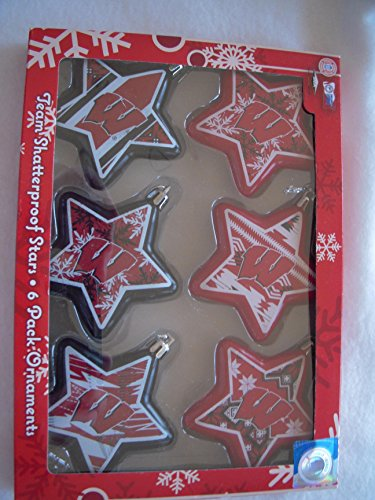 Wisconsin Badgers Star Hanging Ornaments