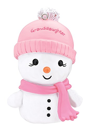 Carlton Heirloom Ornament 2017 Granddaughter – Snowwoman in Scarf – #CXOR017M