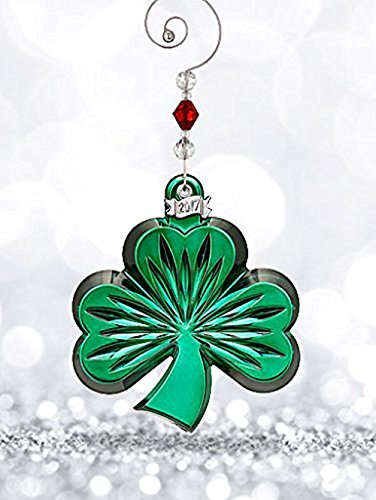 Waterford Shamrock Ornament Green
