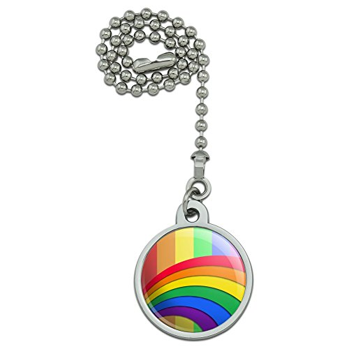 Double Rainbow Pride Arc Ceiling Fan and Light Pull Chain
