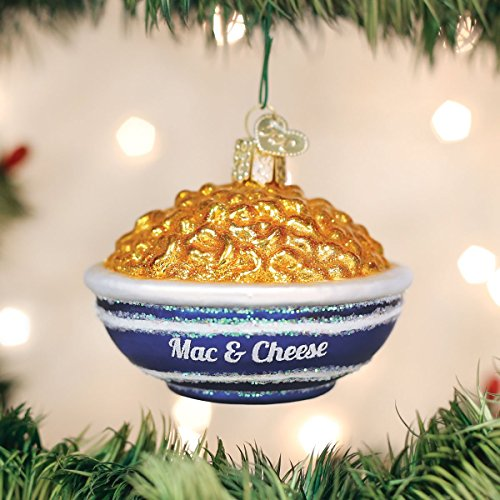 Old World Christmas Glass Blown Bowl of Mac and Cheese Ornament