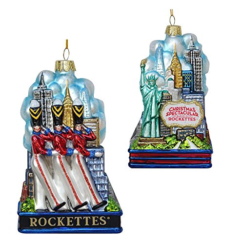 Kurt Adler 5″ Rockette Soldiers W/NY Skyline Ornament