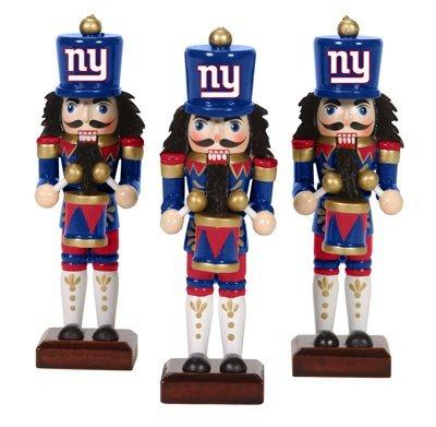 New York Giants Nutcracker Ornaments 3pk NFL Football Fan Shop Sports Team Merchandise