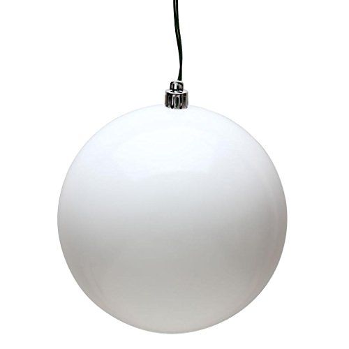 Vickerman 482063 – 3″ White Candy Ball Christmas Tree Ornament (12 pack) (N590811DCV)