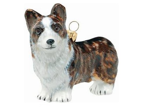 Cardigan Welsh Corgi Dog Polish Blown Glass Polish Christmas Ornament Decoration
