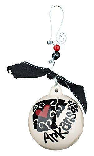 Glory Haus Arkansas Ball Ornament, 4.5″