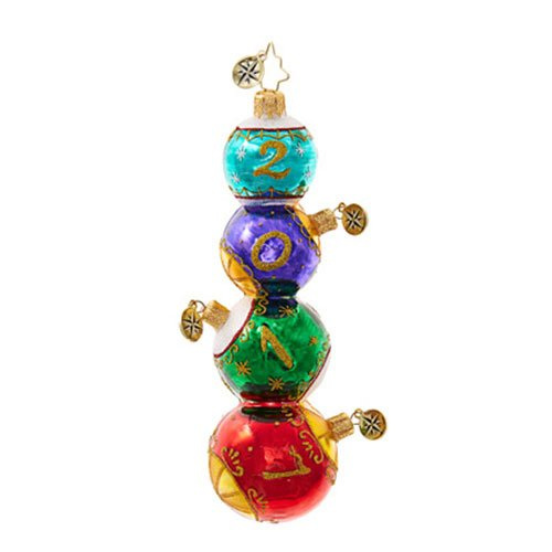 Christopher Radko Stacked Seventeen Dated Christmas Ornament