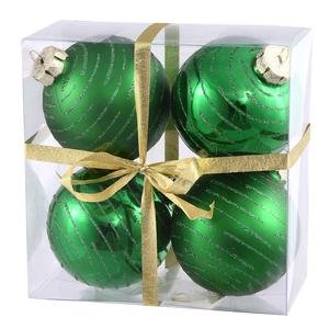 Vickerman 3″ Green Ball with Glitter 4 per Box