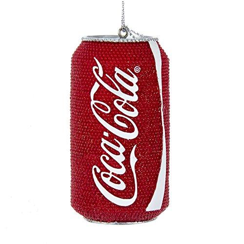 Kurt Adler Glittered Classic Coke Can Ornament