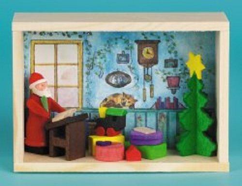 Santa Room Erzgebirge Matchbox Wood Christmas Miniature Made in Germany New
