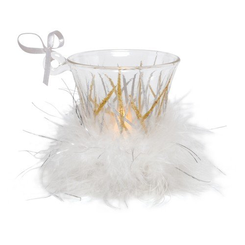 Santa Barbara Design Studio Lolita Holiday Mini Candle LED Ornament, Tinsel