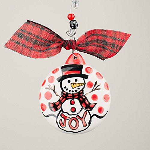 Glory Haus 2990114 Joy Snowman Puff Ornament
