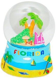 Florida Snow Globe – Blue 65MM, Florida Snow Globes, Florida Snow Domes