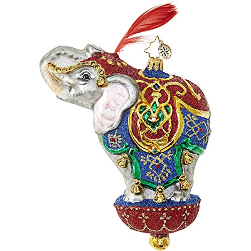 Christopher Radko Ornamental Mammoth Circus Elephant Ornament – 6.5″H.
