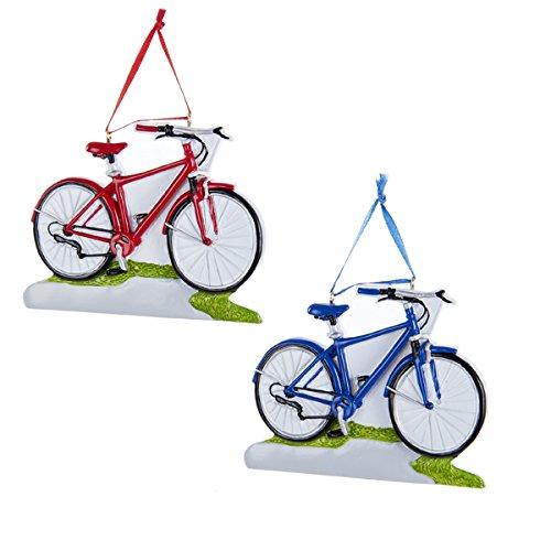 Kurt Adler 4.5″ Resin Bicycle Ornament 2/asstd Colors: Red & Blue
