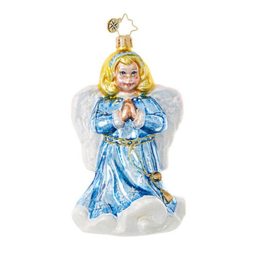 Christopher Radko Blue Angel Religious Christmas Ornament