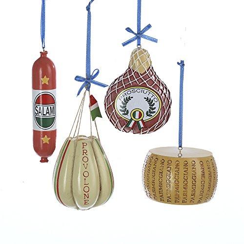 Kurt Adler 2.5″-3.75″ Deli Food Ornaments, Set of 4