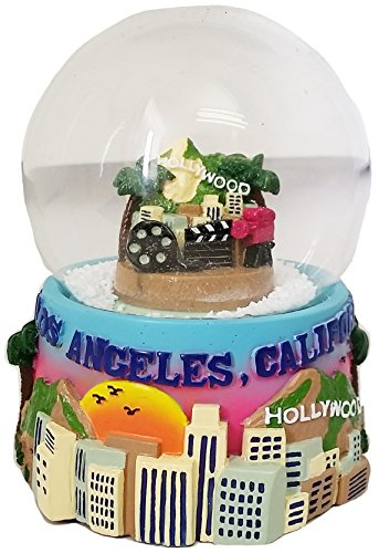 Los Angeles California LARGE Collectible Souvenir Snow Globe Featuring Hollywood