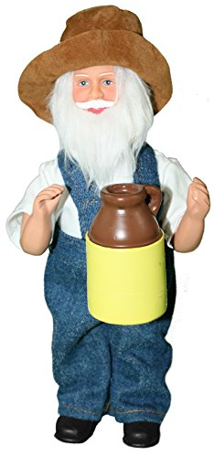 Moonshine Santa Figurine Ornament Hanging Or Standing