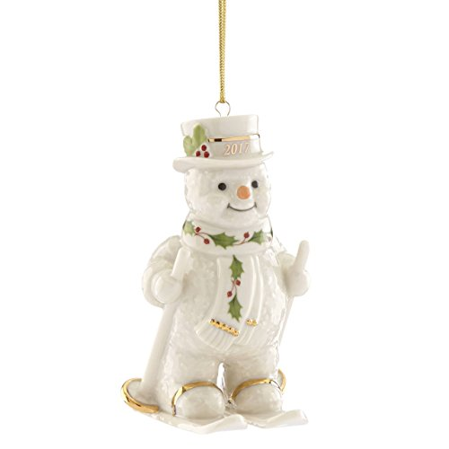 Lenox Annual China Ornaments 2017 Happy Holly Days Fresh Powder Snowman