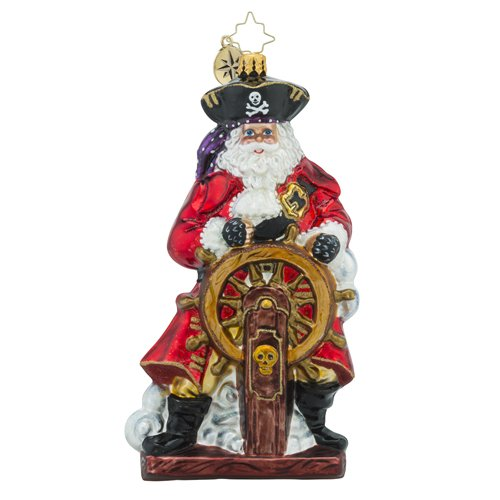 Christopher Radko Bursting with Swag Santa Claus Pirate Christmas Ornament