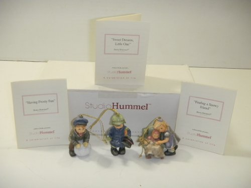 Studio Hummel Set 24 # 92965 Christmas Ornament Collection … Sweet Dreams Little One , Finding A Snowy Friend , Having Frosty Fun