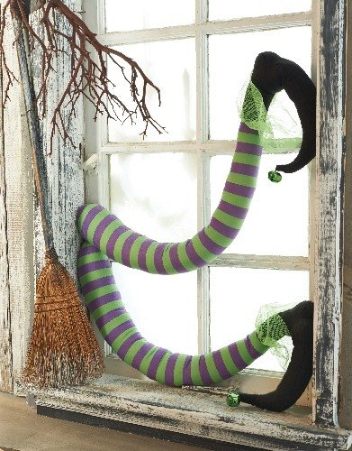 Mud Pie Halloween Witch's Legs Fun Holiday Decor