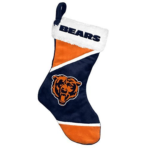 2014 NFL Football Team Logo Colorblock Holiday Stocking (Chicago Bears)